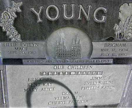 YOUNG, LILLIE EVELYN - Wasatch County, Utah   LILLIE EVELYN YOUNG - Utah Gravestone Photos