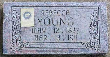YOUNG, REBECCA - Wasatch County, Utah   REBECCA YOUNG - Utah Gravestone Photos