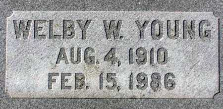 YOUNG, WELBY WILLIAM - Wasatch County, Utah | WELBY WILLIAM YOUNG - Utah Gravestone Photos