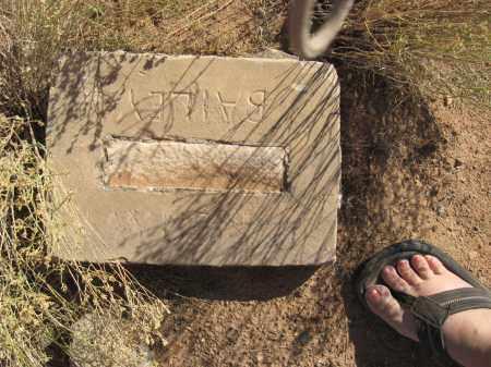 BAILEY, UNKNOWN - Washington County, Utah | UNKNOWN BAILEY - Utah Gravestone Photos