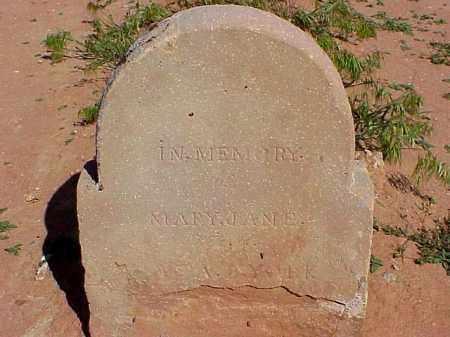 YORK, MARY JANE - Washington County, Utah | MARY JANE YORK - Utah Gravestone Photos