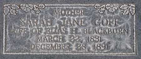 GOFF BLACKBURN, SARAH JANE - Wayne County, Utah | SARAH JANE GOFF BLACKBURN - Utah Gravestone Photos