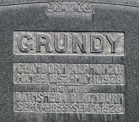GRUNDY, CLAYBORN ALFONZO - Wayne County, Utah | CLAYBORN ALFONZO GRUNDY - Utah Gravestone Photos
