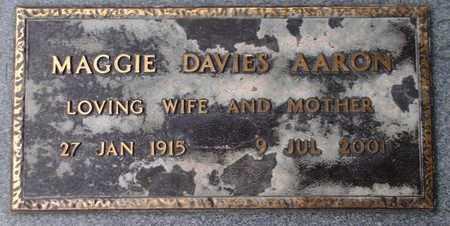 DAVIES AARON, MAGGIE - Weber County, Utah | MAGGIE DAVIES AARON - Utah Gravestone Photos