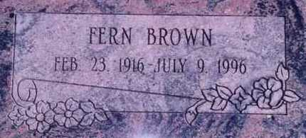 BROWN, FERN - Weber County, Utah | FERN BROWN - Utah Gravestone Photos