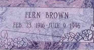 BROWN, FERN - Weber County, Utah   FERN BROWN - Utah Gravestone Photos