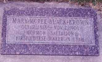BROWN, MARY MCREE - Weber County, Utah | MARY MCREE BROWN - Utah Gravestone Photos