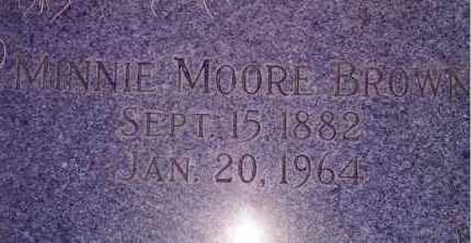 BROWN, MINNIE MOORE - Weber County, Utah | MINNIE MOORE BROWN - Utah Gravestone Photos