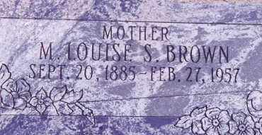 BROWN, MARGARET LOUISE - Weber County, Utah | MARGARET LOUISE BROWN - Utah Gravestone Photos