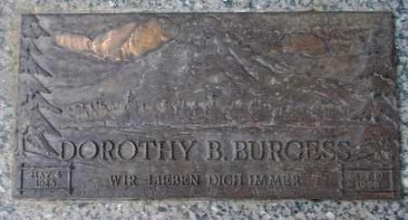 BURGESS, DOROTHY B - Weber County, Utah | DOROTHY B BURGESS - Utah Gravestone Photos