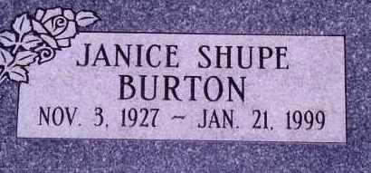 SHUPE BURTON, JANICE - Weber County, Utah | JANICE SHUPE BURTON - Utah Gravestone Photos