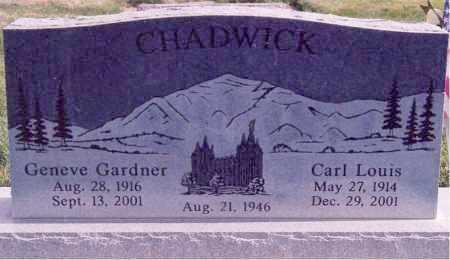 CHADWICK, CARL LOUIS - Weber County, Utah | CARL LOUIS CHADWICK - Utah Gravestone Photos