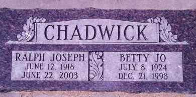BRIDGES CHADWICK, BETTY JO - Weber County, Utah | BETTY JO BRIDGES CHADWICK - Utah Gravestone Photos