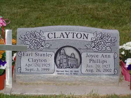 CLAYTON, EARL STANLEY - Weber County, Utah | EARL STANLEY CLAYTON - Utah Gravestone Photos