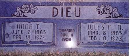 DIEU, JULES ALPHONSE NICHOLAS - Weber County, Utah   JULES ALPHONSE NICHOLAS DIEU - Utah Gravestone Photos