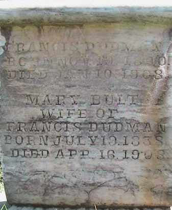 DUDMAN, MARY - Weber County, Utah | MARY DUDMAN - Utah Gravestone Photos