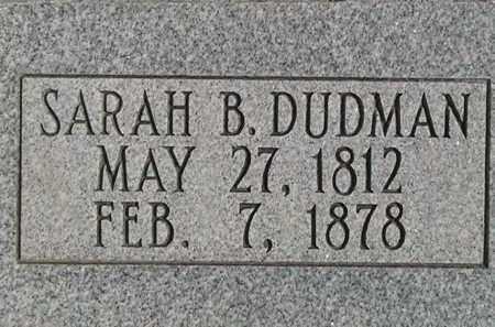 BAKER DUDMAN, SARAH - Weber County, Utah | SARAH BAKER DUDMAN - Utah Gravestone Photos