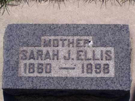 BARKER ELLIS, SARAH JANE - Weber County, Utah | SARAH JANE BARKER ELLIS - Utah Gravestone Photos