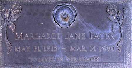 FACER, MARGARET JANE - Weber County, Utah | MARGARET JANE FACER - Utah Gravestone Photos