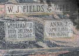 FIELDS, ANNA - Weber County, Utah | ANNA FIELDS - Utah Gravestone Photos