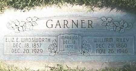 GARNER, WILLIAM RILEY - Weber County, Utah | WILLIAM RILEY GARNER - Utah Gravestone Photos