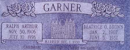BROWN GARNER, BEATRICE OLIVE - Weber County, Utah | BEATRICE OLIVE BROWN GARNER - Utah Gravestone Photos
