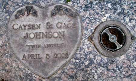 JOHNSON, GAGE - Weber County, Utah | GAGE JOHNSON - Utah Gravestone Photos