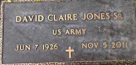 JONES (SERV), DAVID CLAIRE, SR - Weber County, Utah | DAVID CLAIRE, SR JONES (SERV) - Utah Gravestone Photos
