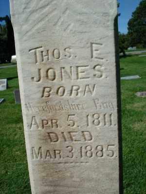 JONES, THOMAS ENGLISH - Weber County, Utah | THOMAS ENGLISH JONES - Utah Gravestone Photos
