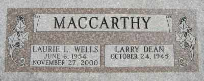 WELLS MAC CARTHY, LAURIE LOUISE - Weber County, Utah | LAURIE LOUISE WELLS MAC CARTHY - Utah Gravestone Photos