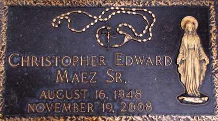 MAEZ, CHRISTOPHER EDWARD, SR - Weber County, Utah | CHRISTOPHER EDWARD, SR MAEZ - Utah Gravestone Photos