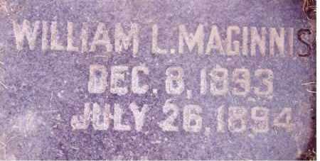 MAGINNIS, WILLIAM L. - Weber County, Utah   WILLIAM L. MAGINNIS - Utah Gravestone Photos