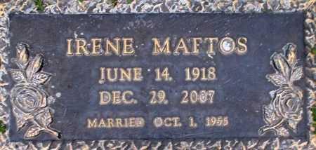 FRY MATTOS, IRENE - Weber County, Utah | IRENE FRY MATTOS - Utah Gravestone Photos