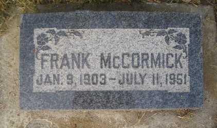 MCCORMICK, FRANK - Weber County, Utah   FRANK MCCORMICK - Utah Gravestone Photos