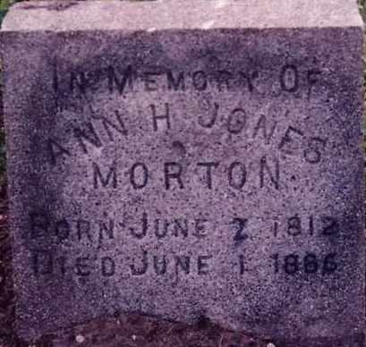 JONES, ANN H - Weber County, Utah   ANN H JONES - Utah Gravestone Photos