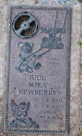 NEWBERRY, JUDE MIKA - Weber County, Utah | JUDE MIKA NEWBERRY - Utah Gravestone Photos