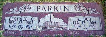 COVINGTON PARKIN, BEATRICE MAE - Weber County, Utah | BEATRICE MAE COVINGTON PARKIN - Utah Gravestone Photos