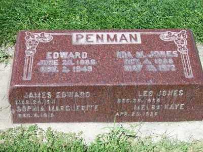 PENMAN, EDWARD - Weber County, Utah | EDWARD PENMAN - Utah Gravestone Photos