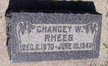 RHEES, CHANCEY W - Weber County, Utah   CHANCEY W RHEES - Utah Gravestone Photos
