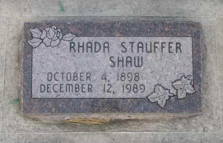 STAUFFER, RHADA - Weber County, Utah   RHADA STAUFFER - Utah Gravestone Photos