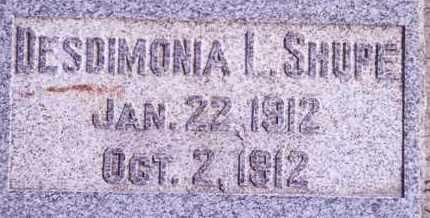 SHUPE, DESDIMONIA I - Weber County, Utah | DESDIMONIA I SHUPE - Utah Gravestone Photos