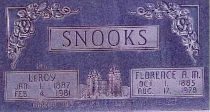 SNOOKS, LEROY - Weber County, Utah | LEROY SNOOKS - Utah Gravestone Photos