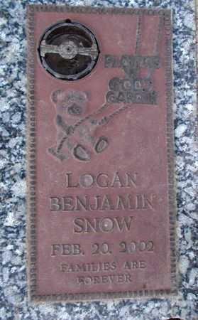SNOW, LOGAN BENJAMIN - Weber County, Utah | LOGAN BENJAMIN SNOW - Utah Gravestone Photos