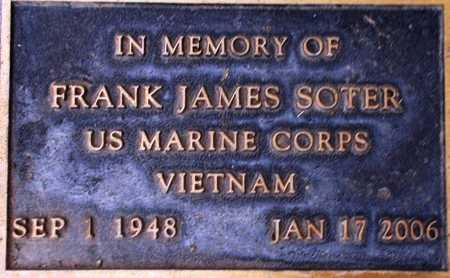 SOTER, FRANK JAMES - Weber County, Utah | FRANK JAMES SOTER - Utah Gravestone Photos