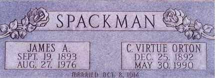 SPACKMAN, CLARA VIRTUE - Weber County, Utah | CLARA VIRTUE SPACKMAN - Utah Gravestone Photos