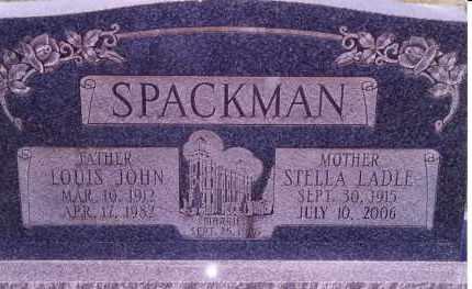 SPACKMAN, LOUIS JOHN - Weber County, Utah | LOUIS JOHN SPACKMAN - Utah Gravestone Photos