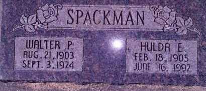 SPACKMAN, WALTER PERRY - Weber County, Utah | WALTER PERRY SPACKMAN - Utah Gravestone Photos