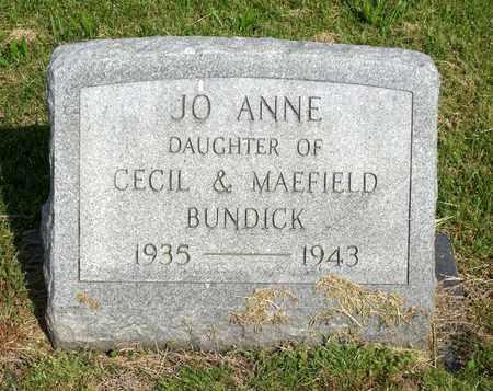 BUNDICK, JO ANNE - Accomack County, Virginia   JO ANNE BUNDICK - Virginia Gravestone Photos