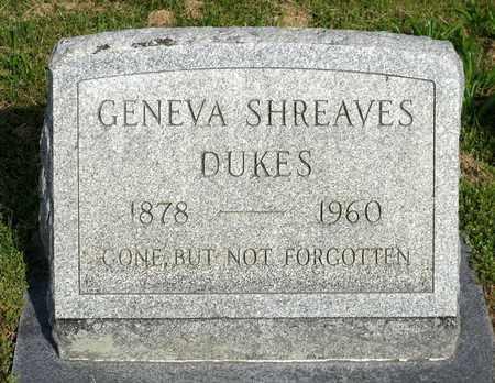 SHREAVES DUKES, GENEVA - Accomack County, Virginia   GENEVA SHREAVES DUKES - Virginia Gravestone Photos