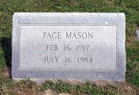 MASON, PAGE - Accomack County, Virginia | PAGE MASON - Virginia Gravestone Photos